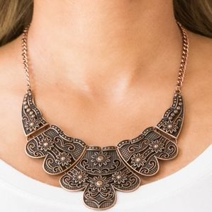 """""""Mess With The Bull"""" - Copper Statement Necklace"""